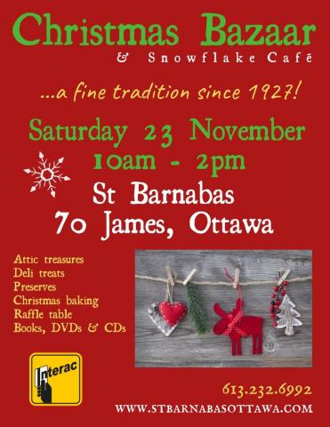 Poster for Christmas Bazaar (details in event description)