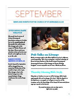 Cover of September newsletter