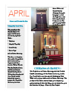 Cover of April newsletter