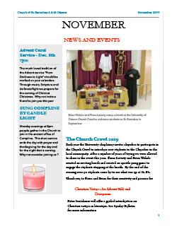 Cover of November newsletter