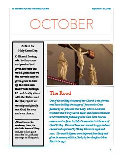 Cover of October newsletter