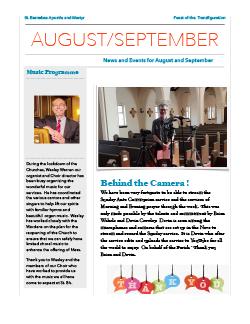 Cover of August-September newsletter