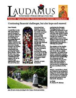 Cover of Summer issue of Laudamus newsletter